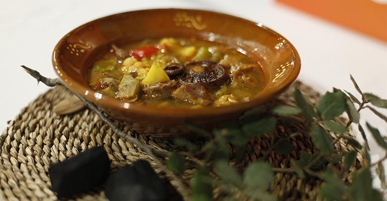 arroz de carbonero que se sirve en Els Fogons de Plaça de Bunyola (Mallorca)