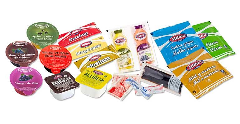 Salsas y condimentos en monodosis