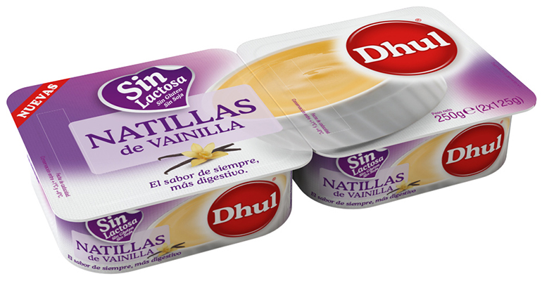 Natillas vainilla sin lactosa Dhul