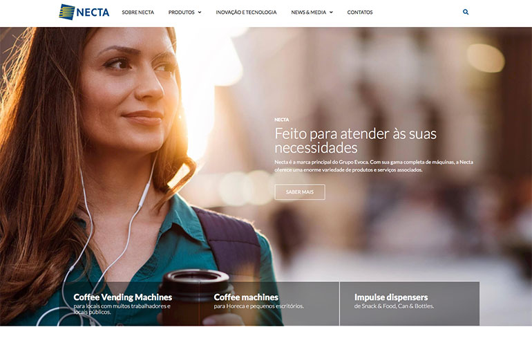 Necta se presenta al mercado portugués con su nueva página web