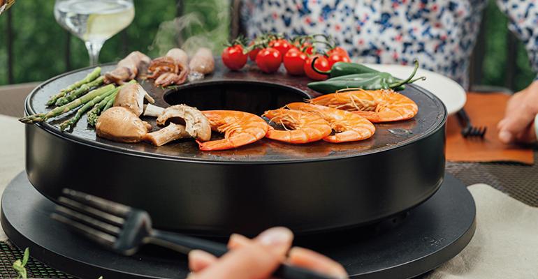 Barbacoa de mesa, compacta y segura