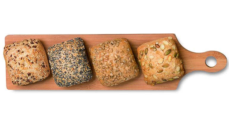 Tabla de panes con semillas de Berlys