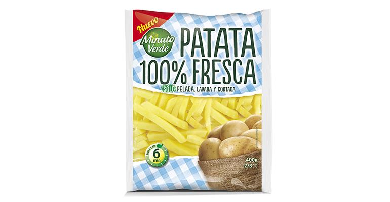 Patatas frescas envasadas listas para freír