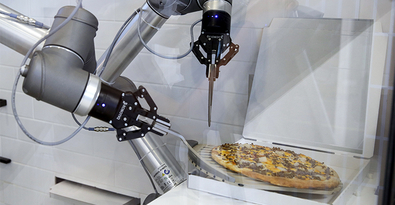 Robot pizzero 2