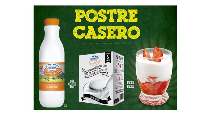 Postre casero de yogur de central lechera asturiana
