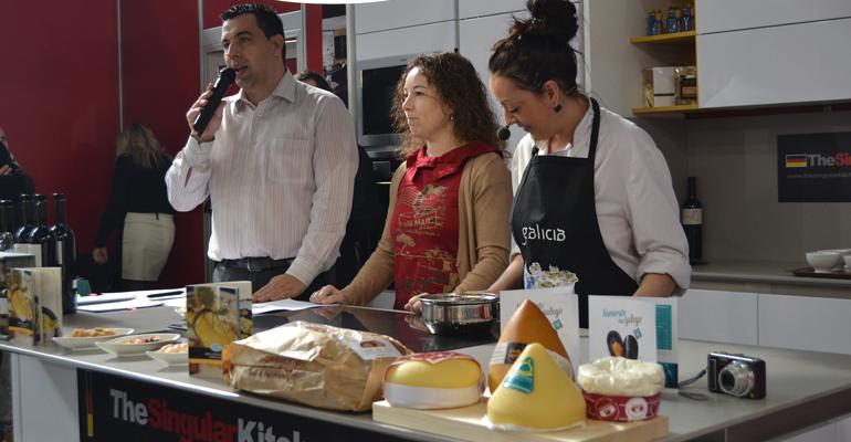 Presentación de productos gallegos en Xantar 2015