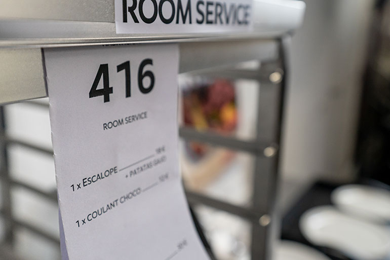 Rational room service concept