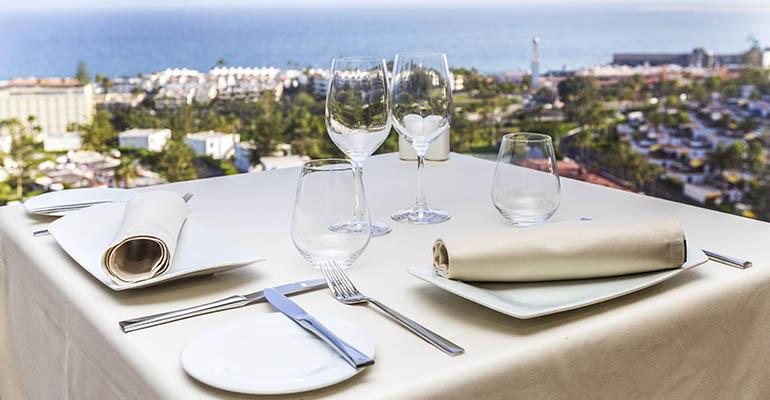 Ropa de mesa de Vayoil Textil en el Restaurante Gorbea