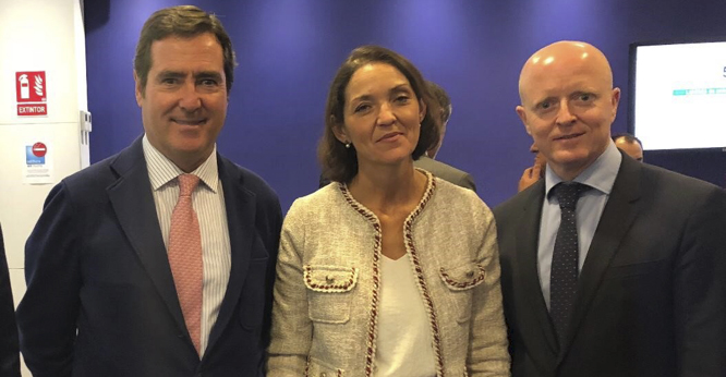 Antonio Garamendi, Reyes Maroto y Rafael Olmos