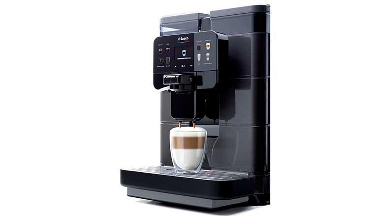 Máquina de café de alto rendimiento con estética de alta tecnología