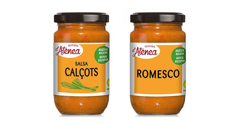 Salsas calçots y Romesco con nueva imagen