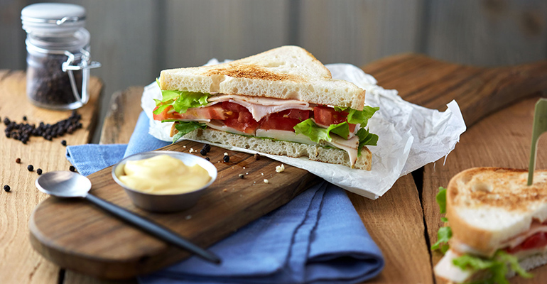Sandwich pan blanco monodosis horeca schar