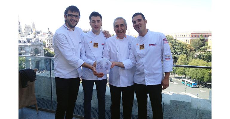 Selección Española de Cocina Profesional con el hermético ColorClip Gold de Araven - Jordi Bordas,Nicolás Sanchez, Adolfo Muñoz Y Alberto Moreno