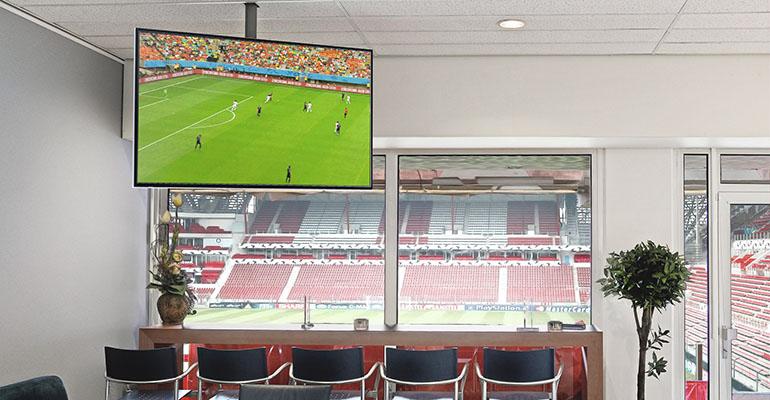 Soporte pantallas de television techo