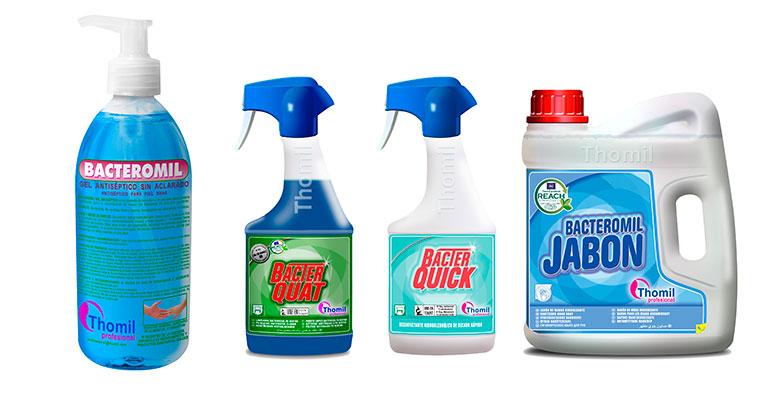 Produtos básicos para la desinfección e higiene