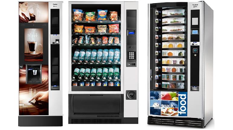 Máquinas vending bebidas y snacks
