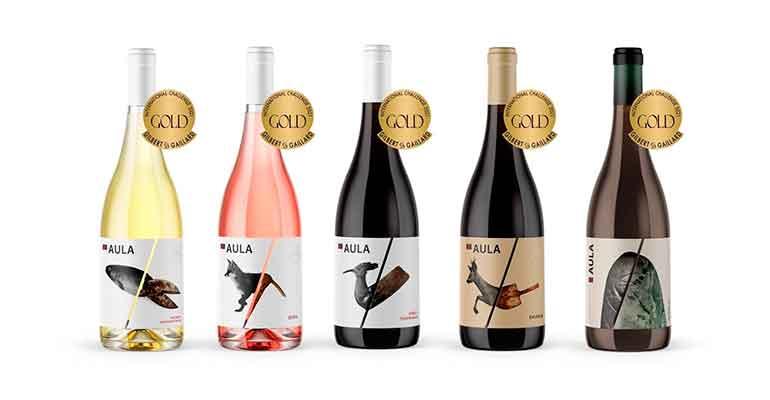 Los vinos Aula logran 5 de los 8 Oros concedidos a Coviñas en la Guía Guilbert&Gaillard