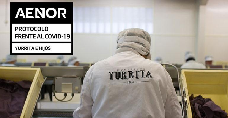 Yurrita obtiene el certificado Aenor por su protocolo frente a la Covid-19