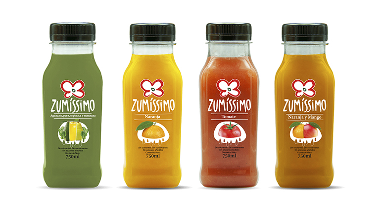 Zumíssimo variedades de zumos de frutas y verduras