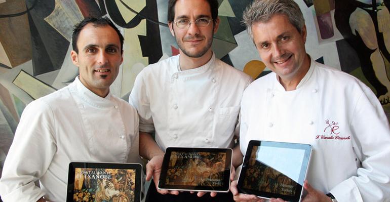 El equipo del Restaurante Etxanobe con Fernando Canales a la cabeza