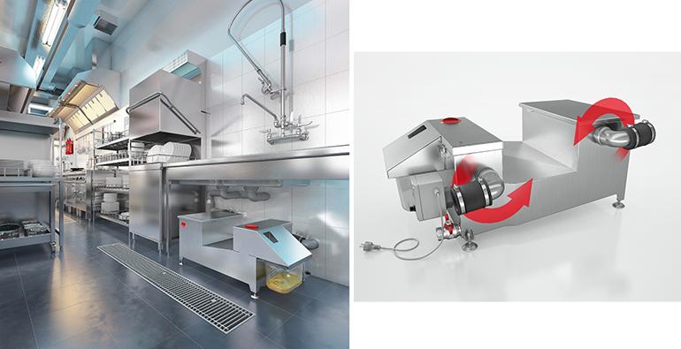 Separador de grasas manual para cocinas industriales