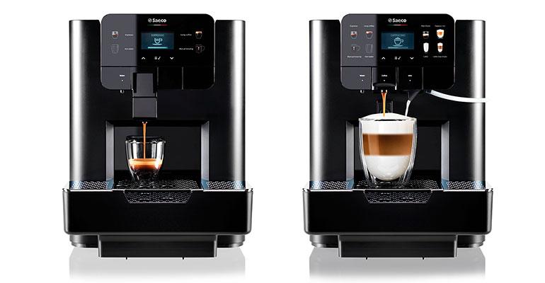 Compacta máquina de café en cápsulas profesional