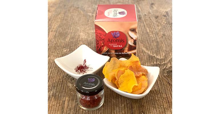 Snacks con azafrán biológico