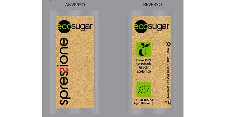 Ecosugar es el primer azúcar ecológico cuyo envoltorio es 100 % orgánico.