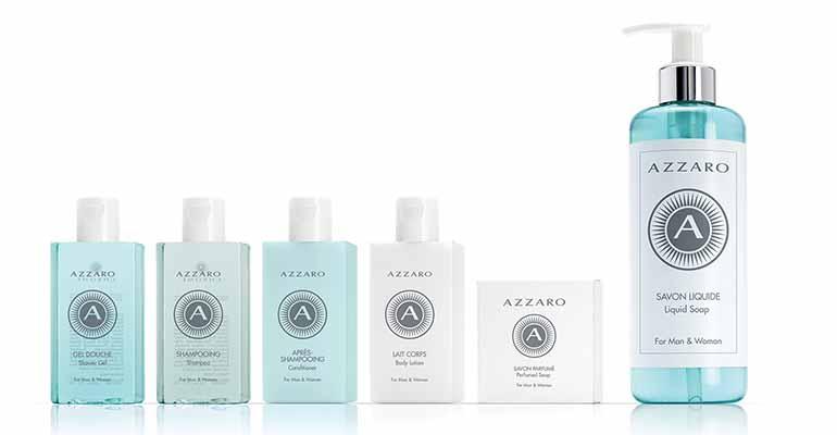 Línea cosmética Azzaro para hoteles de lujo