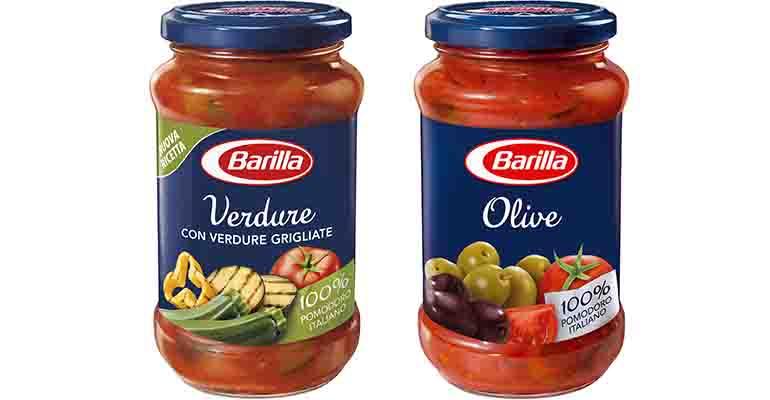 Salsas vegetarianas de Barilla