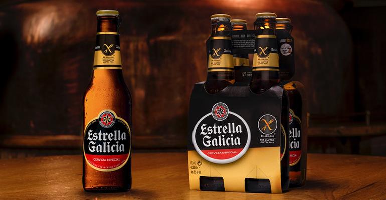 Estrella Galicia sin gluten se envasa en botellas no retornables de 33 cl