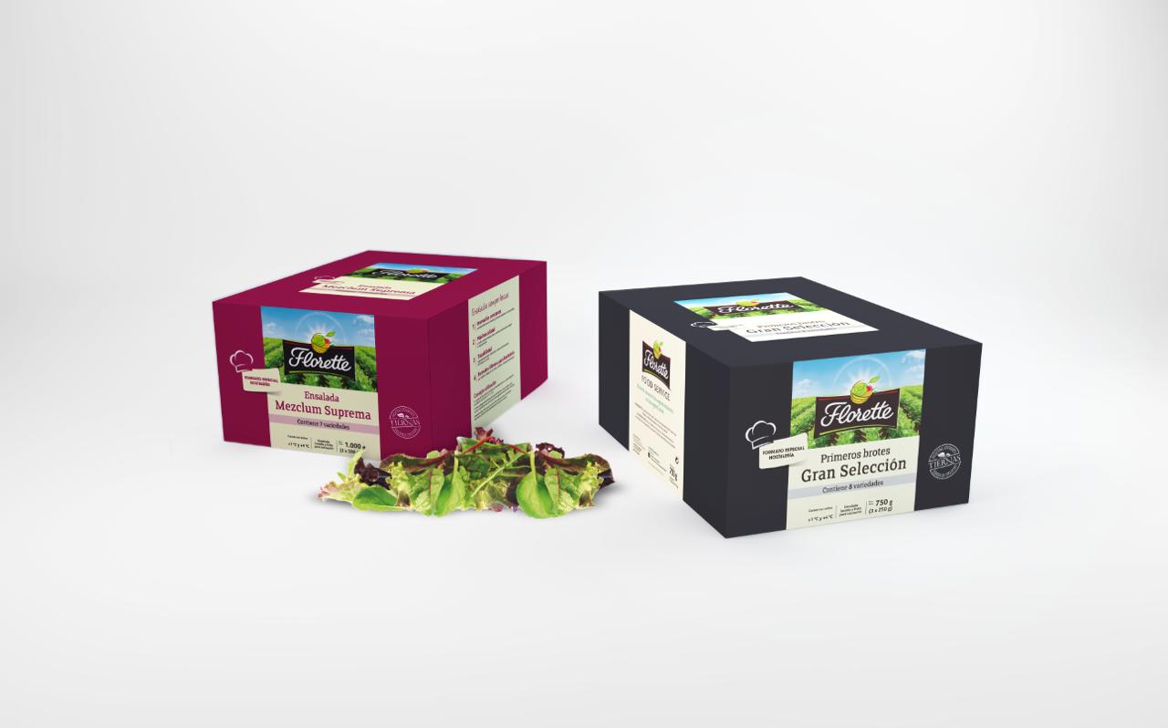 Cajas de productos Florette Food Service