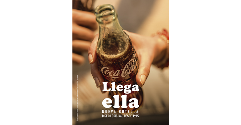 Coca Cola botella de cristal original