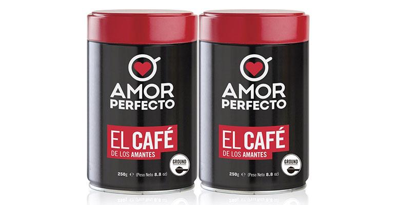 cafés Amor Perfecto 100% colombianos
