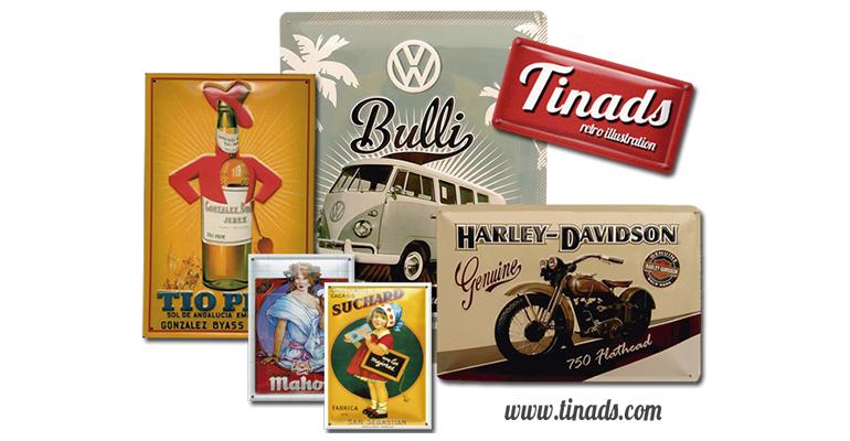 carteles metalicos publicitarios tinads