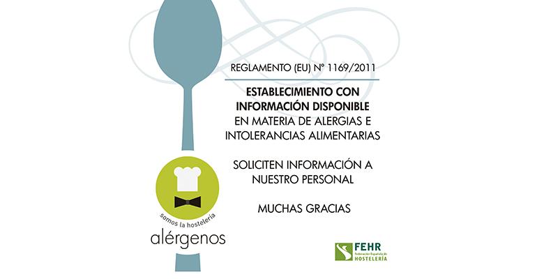 Cartel informativo información alegremos restaurantes