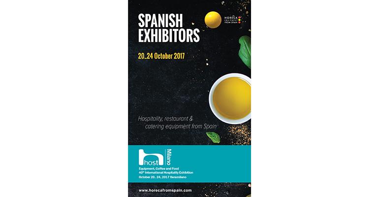 Cartel promocional del equipamiento para horeca nacional en Host