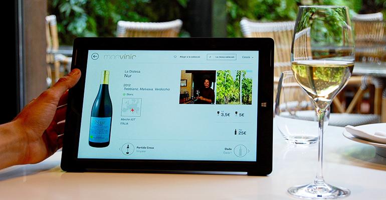 Carta de vinos interactiva de Monvinic