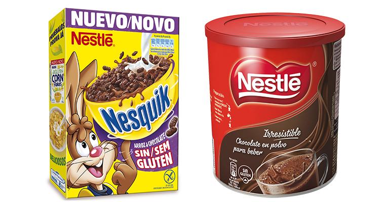 cereales y chocolate en polvo sin gluten