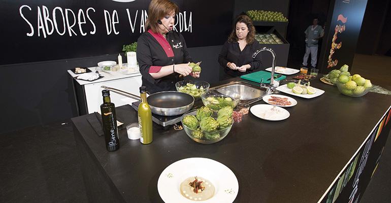 cocina con verduras en fruit attraction