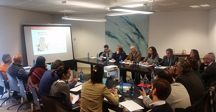 Una amplia representación de su comité organizador se ha reunido reunido recientemente en el Palacio de Congresos de Málaga
