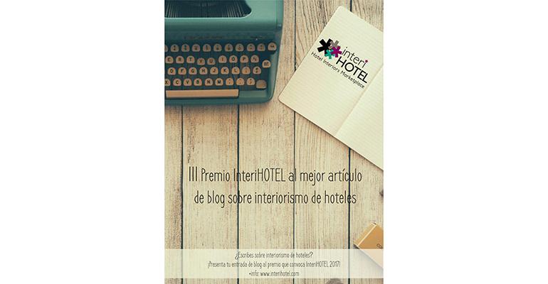 Concurso InterioHOTEL premio al mejor blog de interiorismo de hoteles