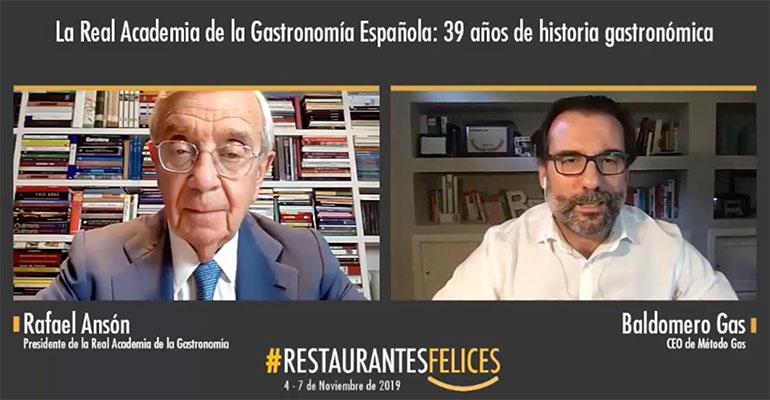 Rafael Ansón congreso online restuarantes felices