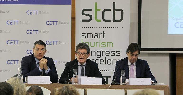Especialistas en el congreso de turismo inteligente celebrado en Barcelona