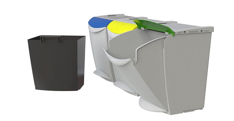 Sistema de recogida de residuos modular y ecológico