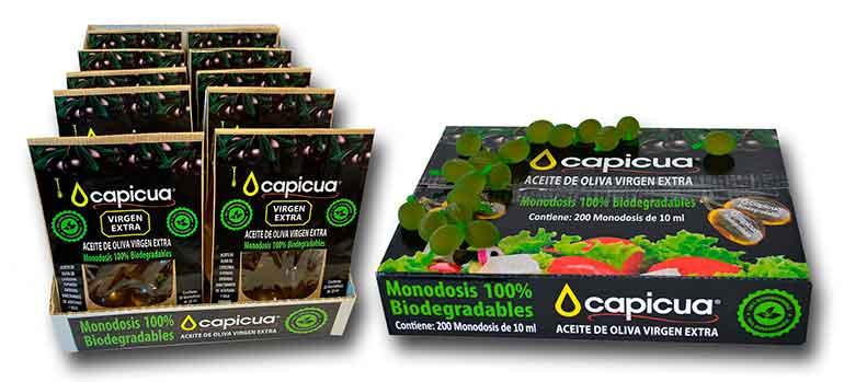 Monodosis biodegradables de AOVE