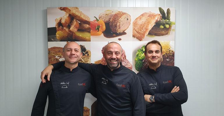 Miguel Arenas,  David Espartero y Alejandro Villanueva