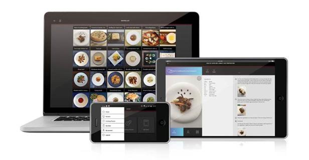 Detalle del recetario y la app de mychef