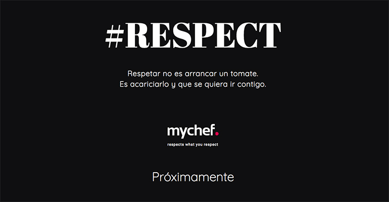 campaña #respect de mychef