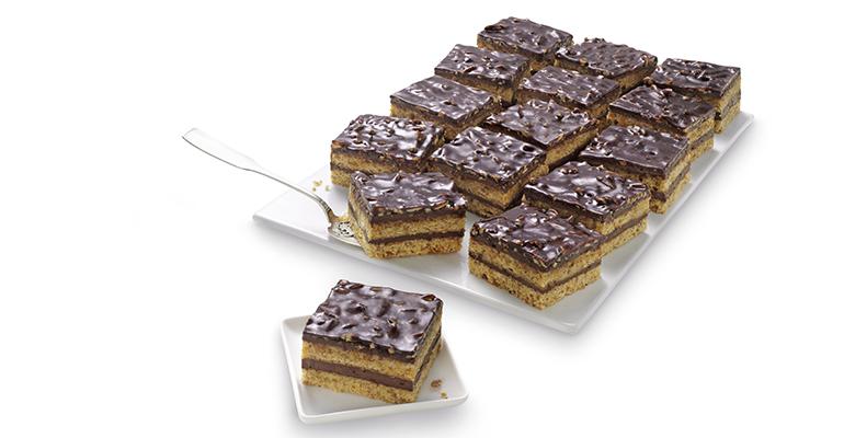 Plancha de tarta de almendras con chocolate
